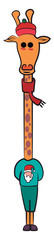 Christmas decorative giraffe lantern vector or color illustration © Morphart