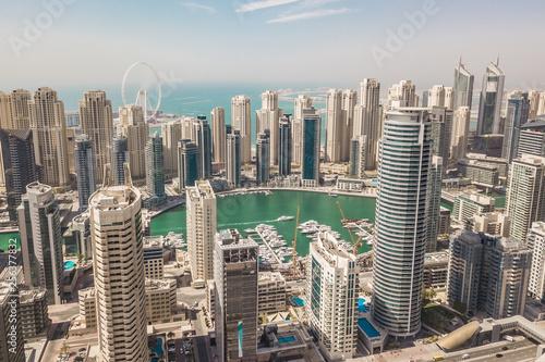 obraz lub plakat Aerial view of Dubai Marina district