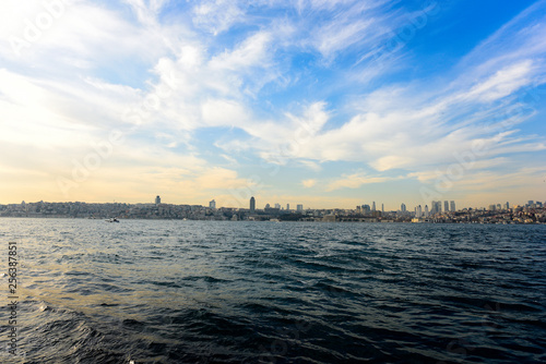 Istanbul bosphorus and city view