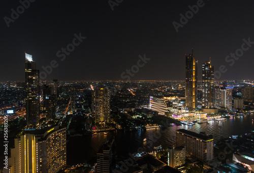 Fototapeten Bangkok Bangkok downtown night cityscape