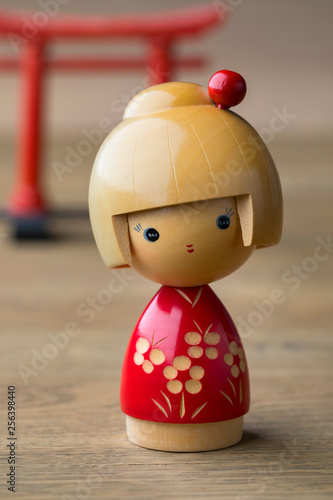 Wooden Japanese kokeshi doll © Picture Partners