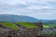 Leinwanddruck Bild - Mauer der Burg in Stirling/Schottland