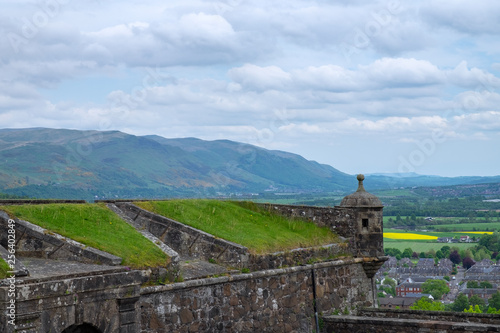 Leinwanddruck Bild Mauer der Burg in Stirling/Schottland
