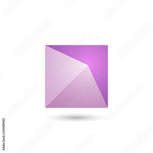 Polygonal geometric figure.For web design.Vector Illustration