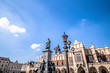 Leinwanddruck Bild - Poland, Cracow, Adam Mickiewicz Monument