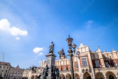 Leinwanddruck Bild Poland, Cracow, Adam Mickiewicz Monument