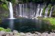 Shizuoka Shiraito Waterfall in Fujino Miyashi, Shizuoka Prefecture Is a beautiful waterfall, clear water of Japan. - 256421899