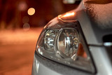 Detail photo of headlights of a car