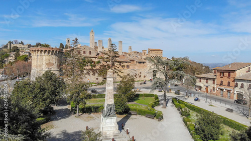 Aerial view of San Gimignano, Tuscany