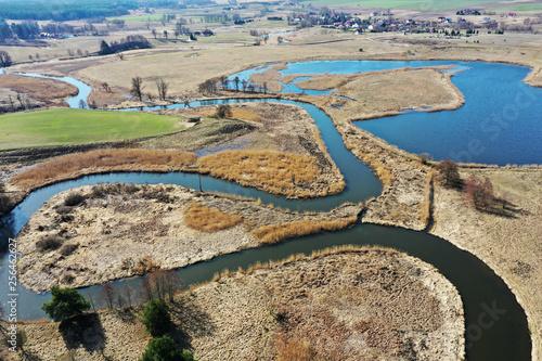 Foto Murales Warmia-wiosna nad rzeką Łyną