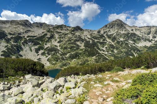 Summer landscape of Banderitsa Fish lake, Pirin Mountain, Bulgaria