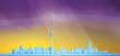 Abstract modern city skyline - 256492880