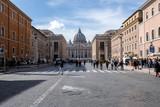 piazza san pietro, via della conciliazione, roma