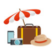 travel tourism set icons