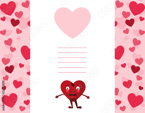 heart male kawaii character
