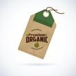Natural organic food label on vintage paper