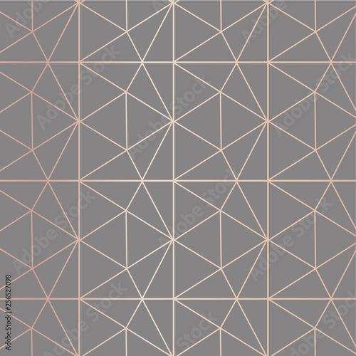 fototapeta na ścianę Geometric prism rose gold pattern