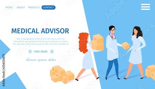 Medical Advisor Horizontal Banner. Infographics