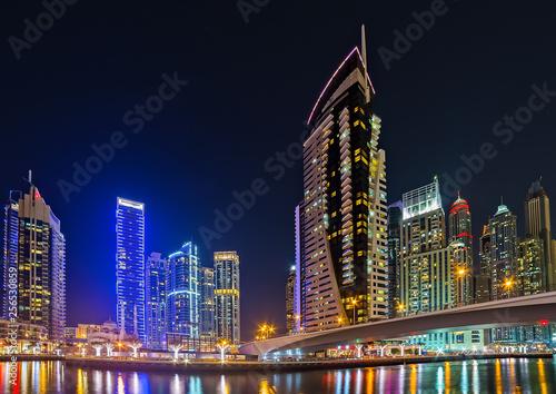 obraz lub plakat Dubai, tallest skyscrapers locations UAE.