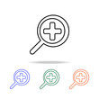 magnifying glass approximation icon. Elements of simple web icon in multi color. Premium quality graphic design icon. Simple icon for website, web design, mobile app, info graphics