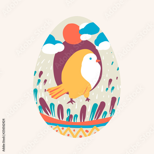 Easter egg design illustration