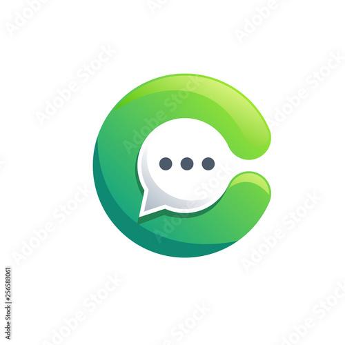 chat logo design - 256588061