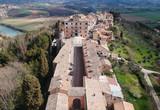 Aerial view of Filacciano with Del Drago castle near Rome, Italy