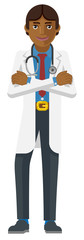 A young Asian medical doctor cartoon character mascot © Christos Georghiou