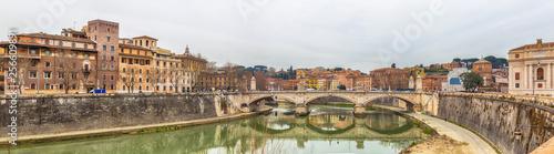 Vittorio Emanuele famous bridge in Rome, Italy © Sergey Yarochkin