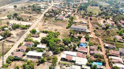 SIEM REAP, CAMBODIA. 2019 Mar 21st. Aerial View of Siem Reap Town.