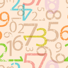 seamless numbers pattern, grungy vector illustration, fictional artwork © Thomas Bethge