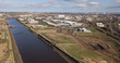 The industrial area of Middlesbrough on the banks of the River tees. A area of regeneration. - 256660281