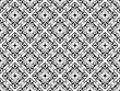Flower geometric pattern. Seamless vector background. White and black ornament. Ornament for fabric, wallpaper, packaging. Decorative print - 256667434