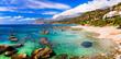 Beautiful beaches of Crete island. Plakias on south. Greece