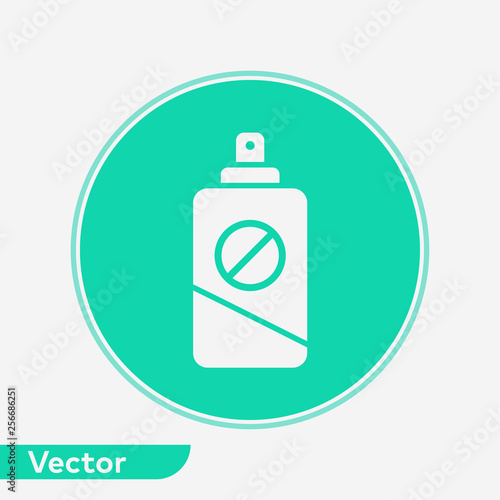 Insect repellent vector icon sign symbol - 256686251