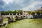Bridge Sant Angelo over river Tiber