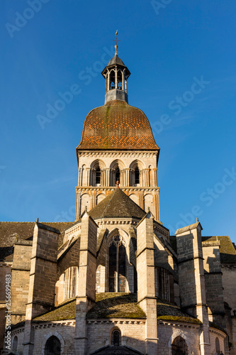 Basilique Notre-Dame of Beaune city in France.