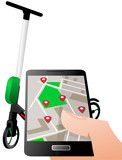 Electric Scooter Rent - rental with a smartphone app