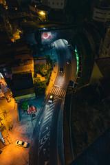 Portugal. Porto city street shot in the night. © STORM INSIDE PHOTO