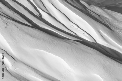 beautiful fresh powder snow textured surface background