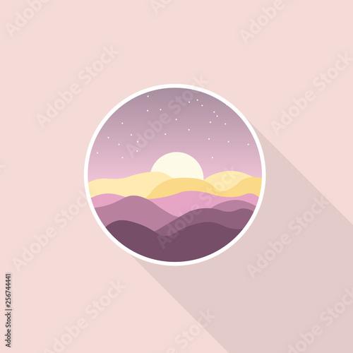 Icon Scenery Violet