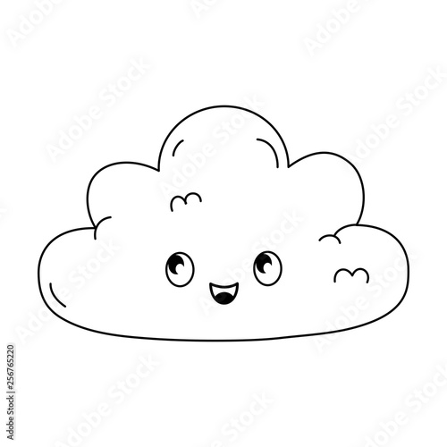 cute cloud kawaii character - 256765220