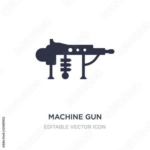 machine gun icon on white background. Simple element illustration from Weapons concept. © zaurrahimov