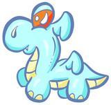Cute Dragon Dinosaur Cartoon Illustration Character