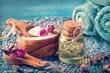 Quadro Sea salt with dry rose petals