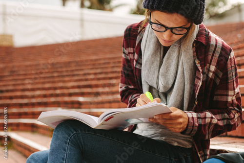 University student studying at campus © Jacob Lund