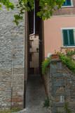 Narrow street of Montecatini Alto, Tuscany, Italy.