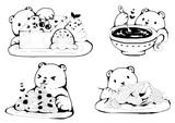 polar with food