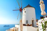 beautiful view on Santorini island in Oia village, Cyclades, greece