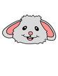 canvas print picture - gesicht kopf hase lachen kaninchen osterhase ostern eier lustig comic cartoon clipart